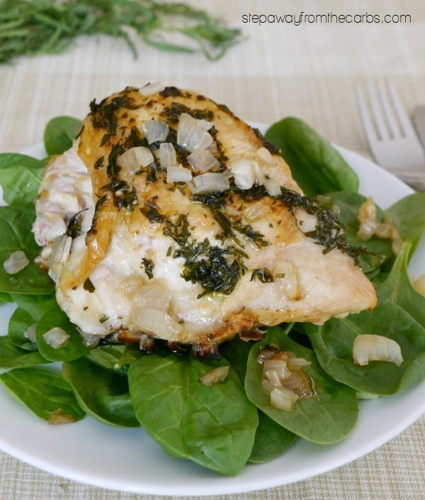Roast Tarragon Chicken - an easy low carb and keto recipe