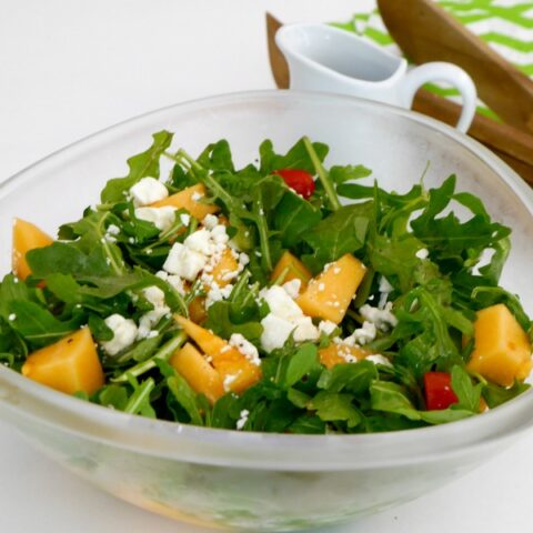 Cantaloupe, Arugula and Feta Salad