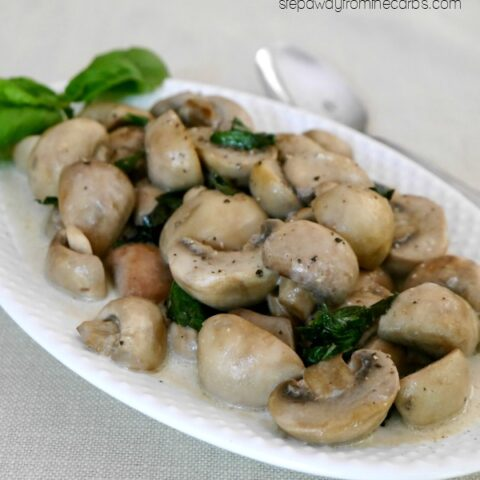 Creamy Mushrooms with Basil