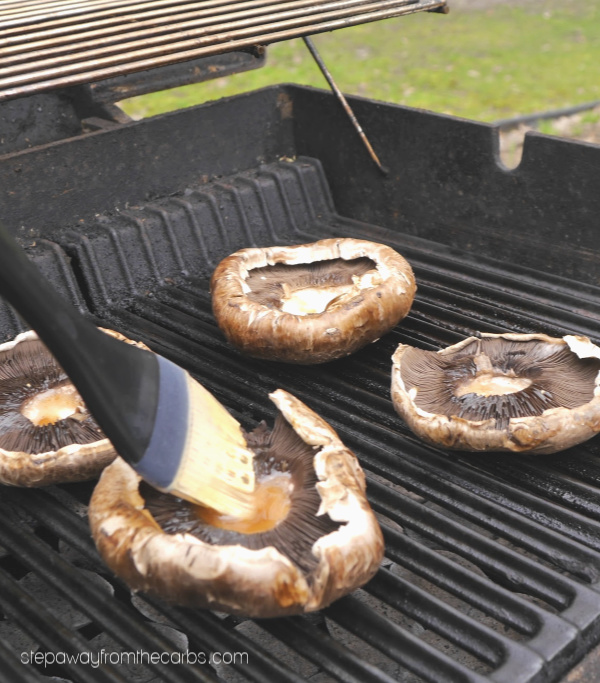 Grilled Portabella Mushrooms - easy low carb and low carb side dish for the grill!
