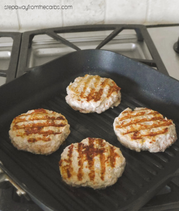 Low Carb Tandoori Chicken Burgers - flavorful burgers for the summer!
