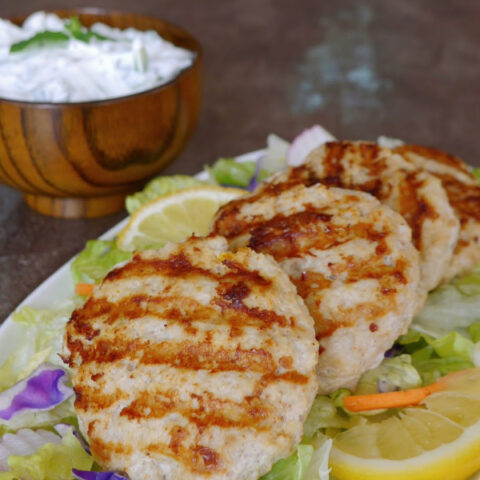 Low Carb Tandoori Chicken Burgers