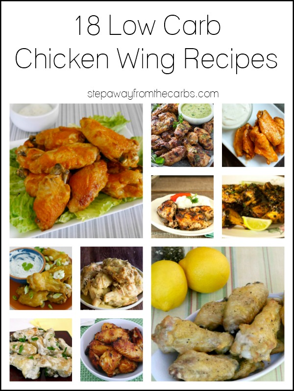 18 Low Carb Chicken Wing Recipes - great for parties and appetizers!