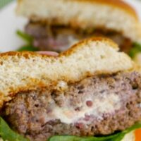 Low Carb Bacon Stuffed Burgers
