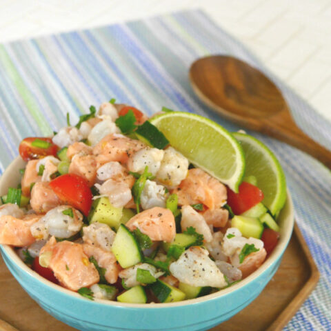 Low Carb Shrimp and Salmon Ceviche