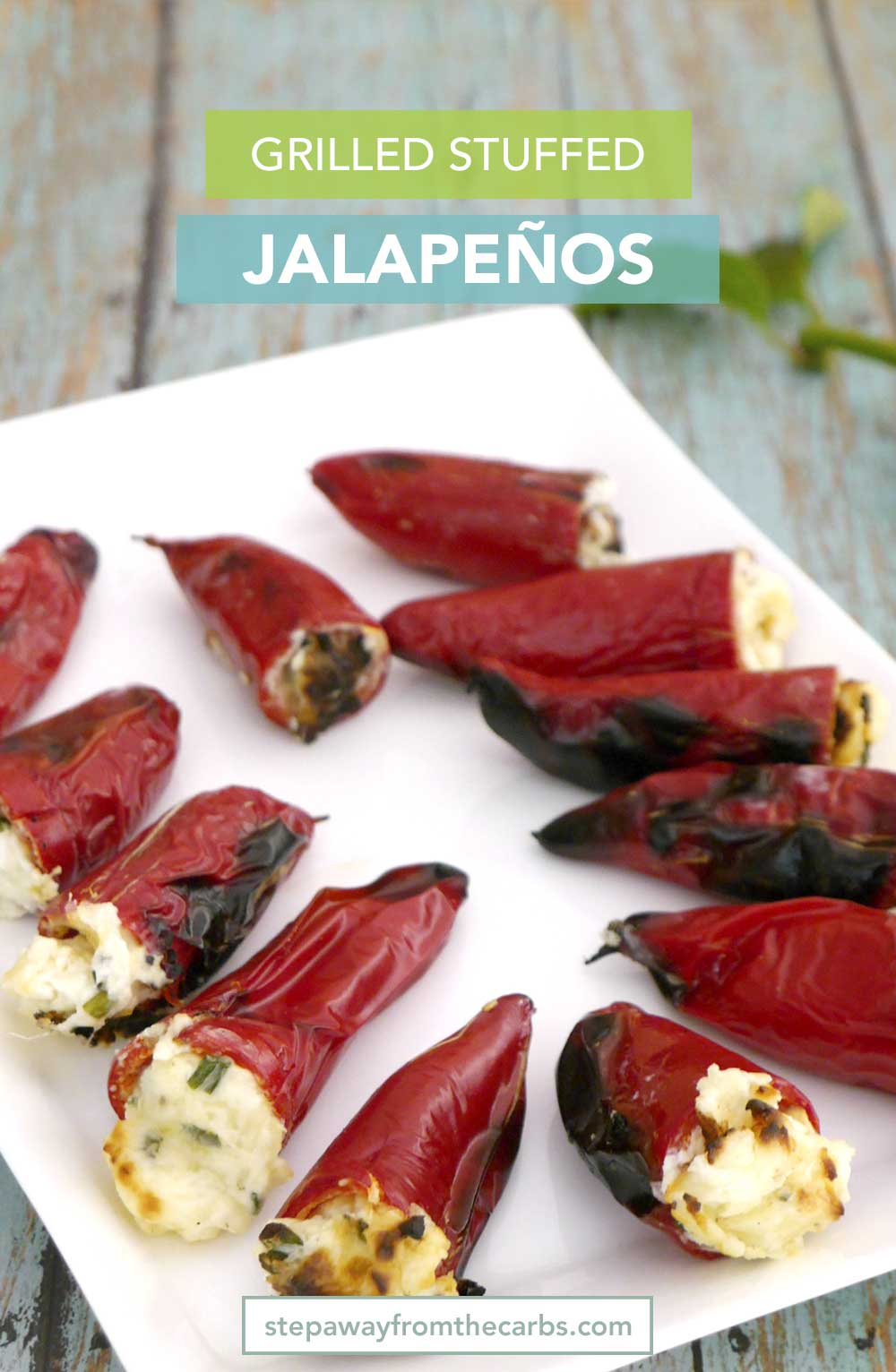 Grilled Stuffed Jalapeños - a low carb snack for the summer!