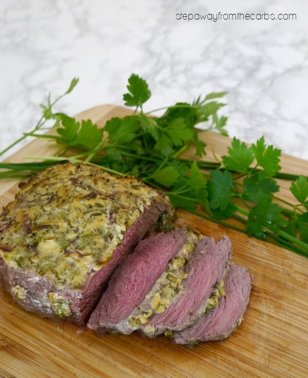 Herb Crusted Roast Beef - easy low carb recipe for special occasions