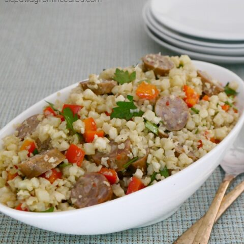 Low Carb Italian Sausage and Cauliflower Salad