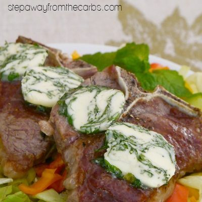 Lamb Chops with Mint and Basil Butter