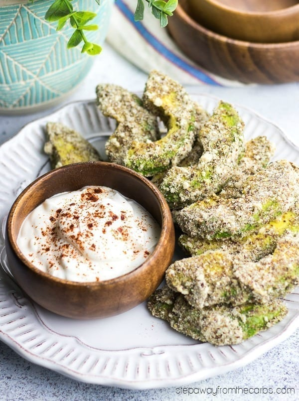 Low Carb Avocado Fries - super tasty appetizer, snack, and party food recipe with video tutorial