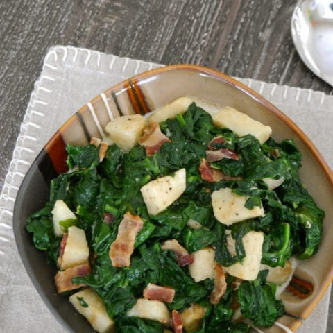 Low Carb Creamed Spinach with Celeriac
