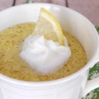 Low Carb Lemon Mug Cake