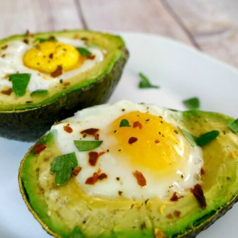 Baked Avocados with Eggs
