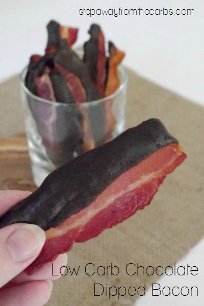 Low Carb Chocolate Dipped Bacon