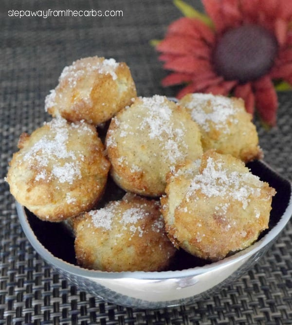 Low Carb Donut Bites with Apple and Cinnamon - and a review of Everyday Ketogenic Kitchen