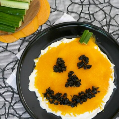 Low Carb Jack O'Lantern Dip