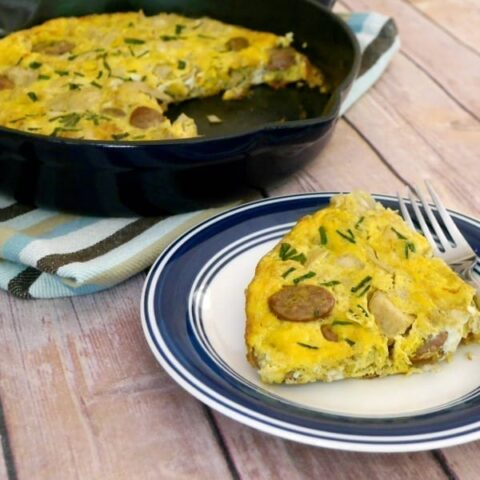 Low Carb Sausage and Artichoke Frittata