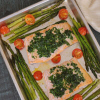 Herb Crusted Salmon with Asparagus