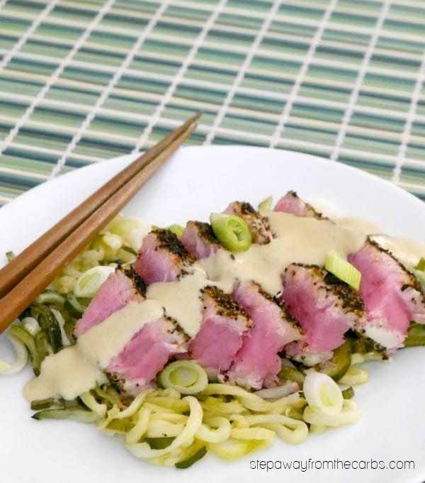 Tuna Steaks with Low Carb Wasabi Sauce - an entree recipe that packs a punch!