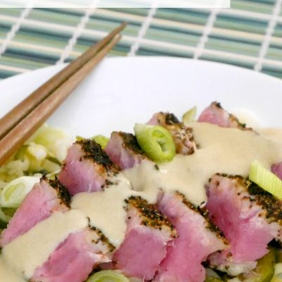 Tuna Steaks with Low Carb Wasabi Sauce