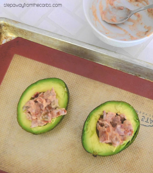Low Carb Avocado, Bacon and Cheese Melt - a quick and tasty breakfast or lunch recipe