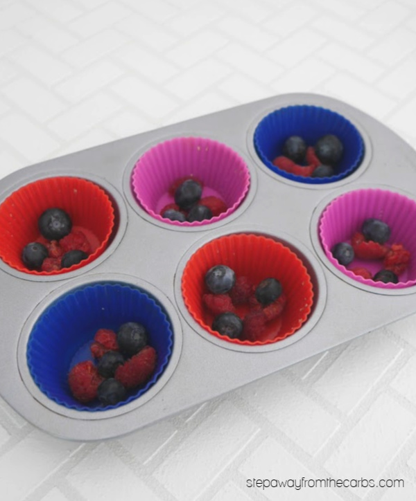 Low Carb Berry Breakfast Muffins - sugar free, gluten free, and keto friendly recipe