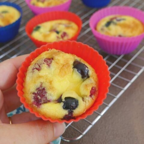 Low Carb Berry Breakfast Muffins
