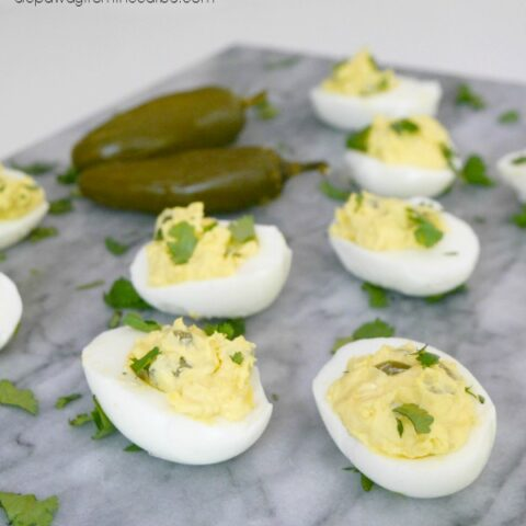 Low Carb Jalapeño Popper Deviled Eggs