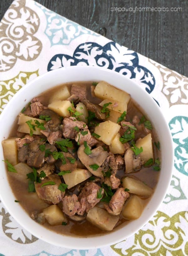 Low Carb Lamb Stew - a comforting meal that is made in the slow cooker or Instant Pot