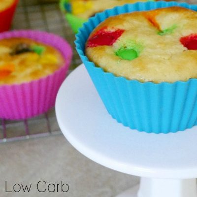 Low Carb Rainbow Cupcakes