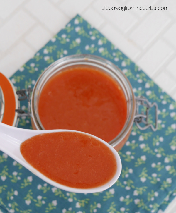 Low Carb Sweet and Sour Sauce - a sugar free copycat version of the classic Chinese sauce