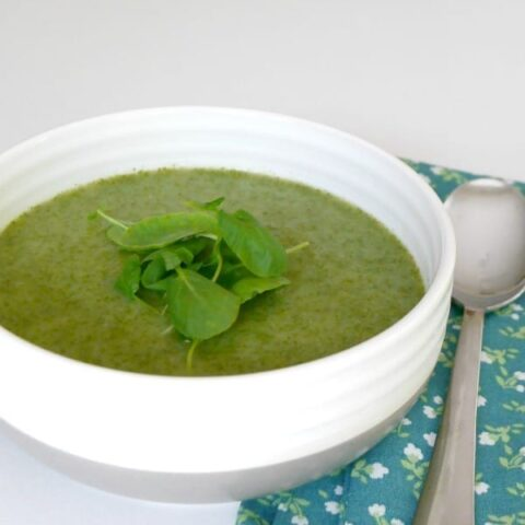 Low Carb Watercress and Cauliflower Soup