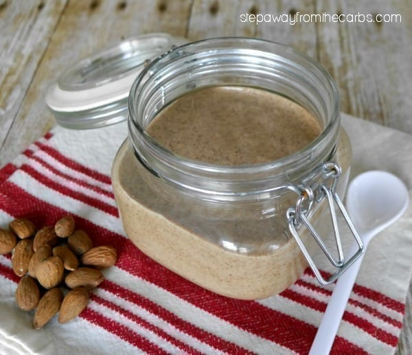 Homemade Almond Butter - only two ingredients and it is naturally low in carbohydrates!