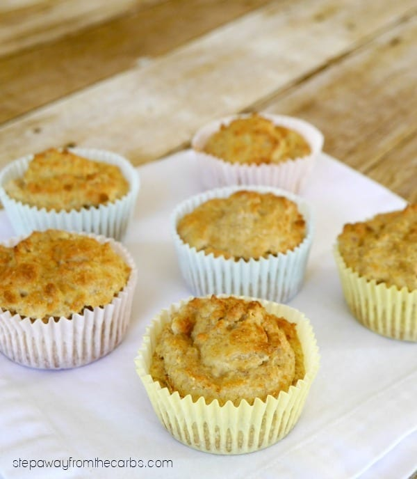 Low Carb Flax and Coconut Muffins - a sugar free and gluten free recipe!