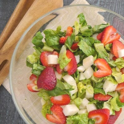 Low Carb Jicama and Strawberry Salad