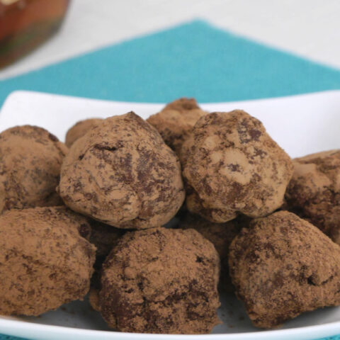Low Carb Chocolate Brandy Truffles