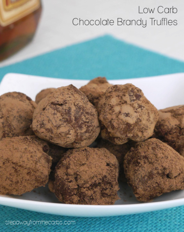 Low Carb Chocolate Brandy Truffles - a decadent keto, sugar free, and LCHF treat!