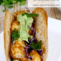 Low Carb Fish Tacos with Avocado Crema