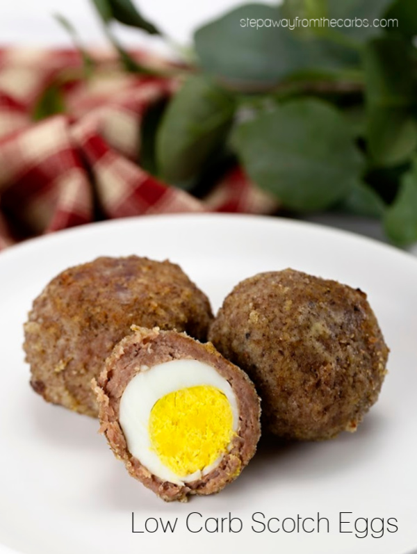 Low Carb Scotch Eggs - a filling keto snack that is super low in carbs!