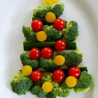 Low Carb Veggie Christmas Tree