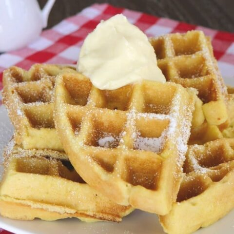 Low Carb Waffles with Whipped Butter