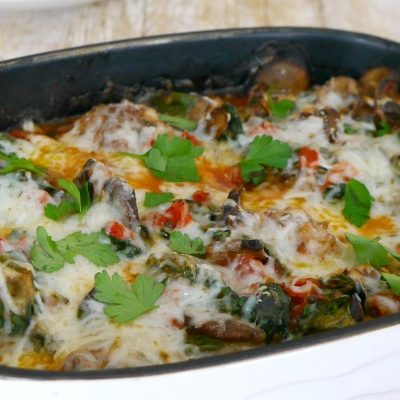 Low Carb Sausage Meatball Casserole