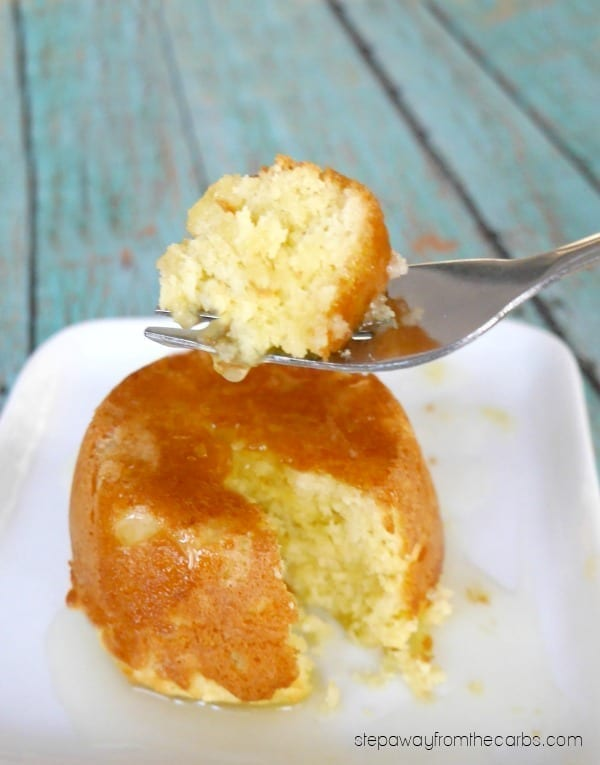 Low Carb Sticky Toffee Pudding - a sugar free dessert adapted from the classic English recipe