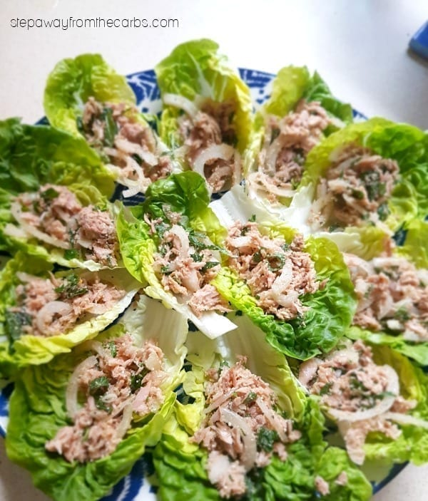 Low Carb Thai Tuna Salad - the perfect recipe for an appetizer or party dish