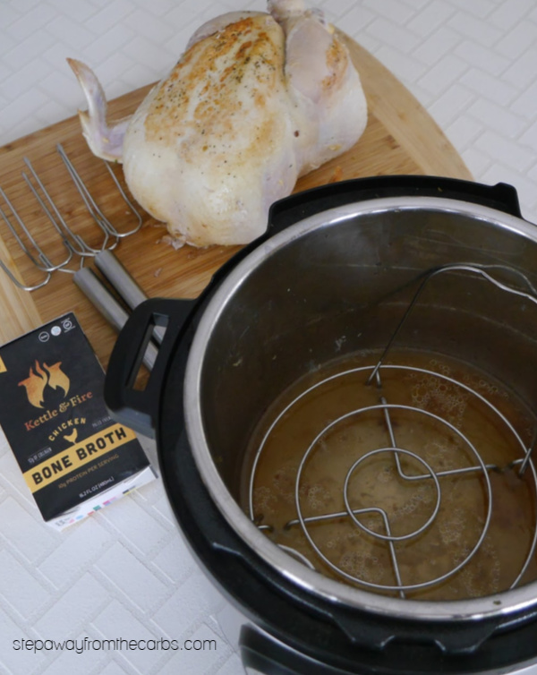 Whole Chicken in the Instant Pot - an easy way to cook soft, moist chicken