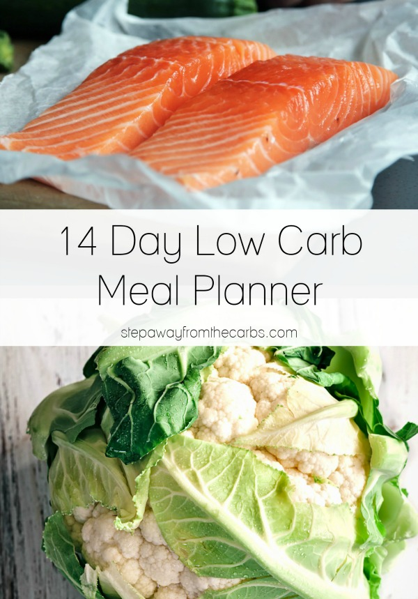 14 Day Low Carb Meal Planner from StepAwayFromTheCarbs.com
