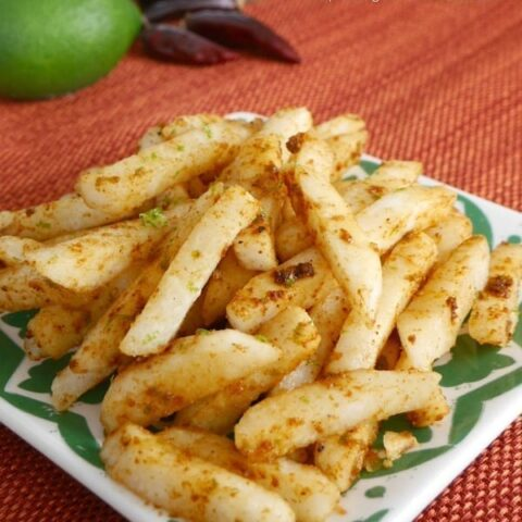 Jicama with Lime and Chipotle