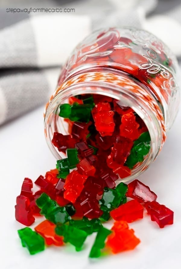 Keto and Low Carb Gummy Bears - a sugar free treat for the whole family to enjoy. With recipe video!