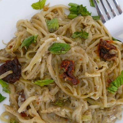 Low Carb Eggplant Noodles