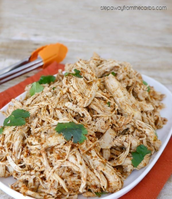 Low Carb Mexican Shredded Chicken - made in the slow cooker